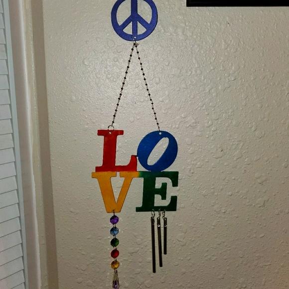 Peace and Love Suncatcher Windchime